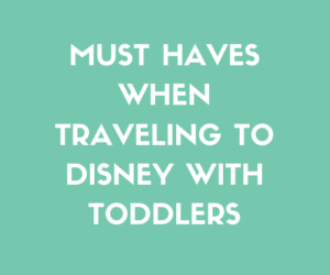 Must Haves When Traveling to Disney with Toddlers