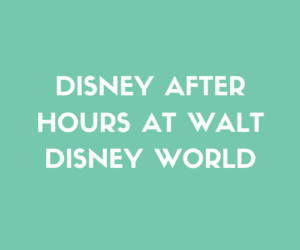 Disney After Hours at Walt Disney World