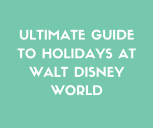 Ultimate Guide To Holidays At Walt Disney World