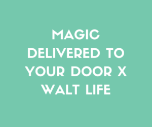 Disney Magic Delivered By Walt Life