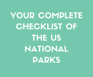 Full US National Parks Checklist
